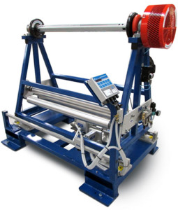 shifting roll stand web guide with tension control system