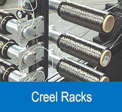 creel racks for composites applications