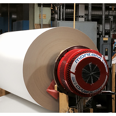 v series web tension brake on paper roll
