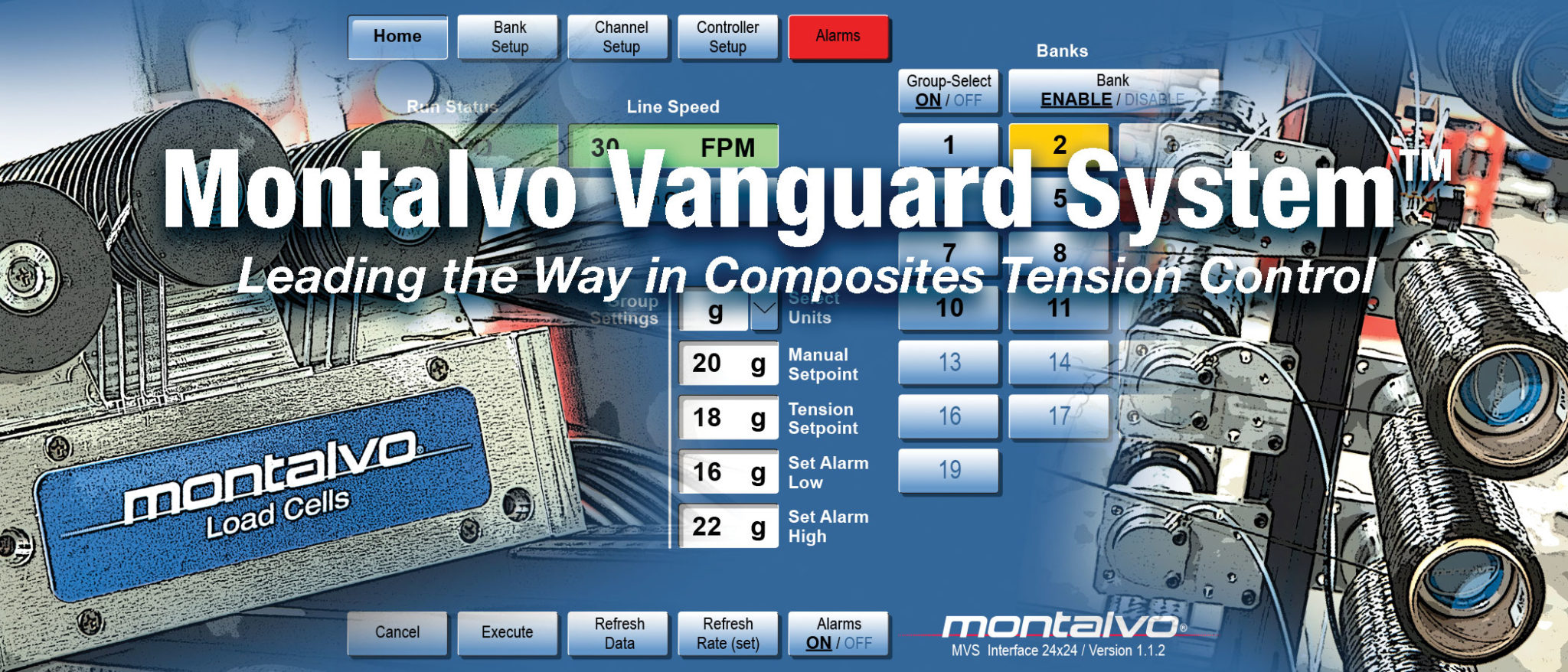 vanguard tow and tape tension control system logo